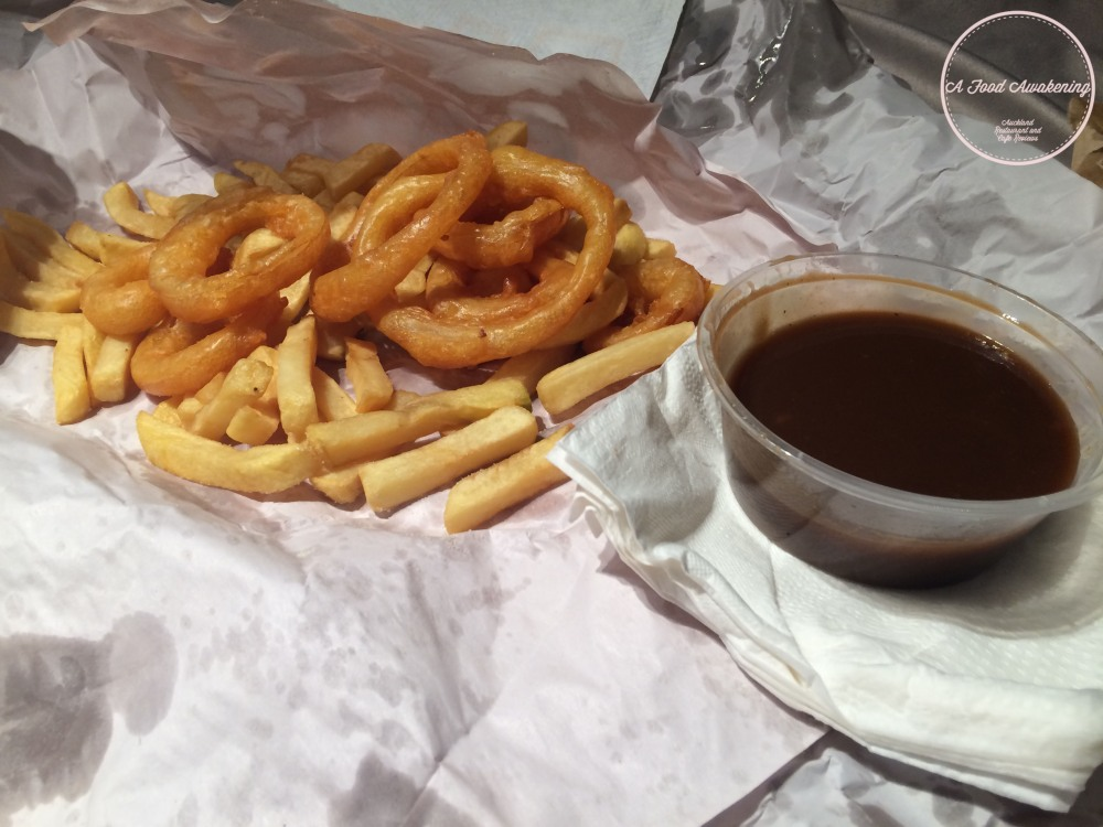 Chips and Gravy and Onion Rings