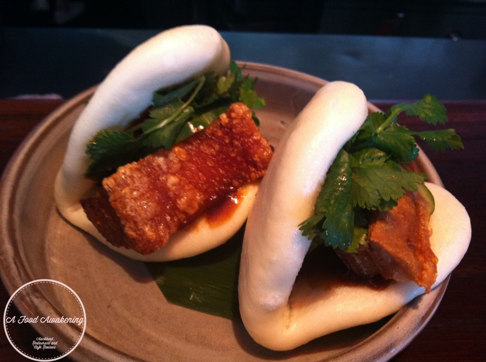 Steamed Bun of Peking Pork Belly & Pickled Cucumber