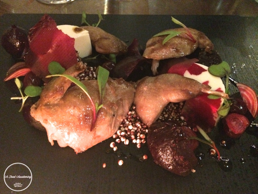 Roasted Quail entree - for Akl Restaurant Month