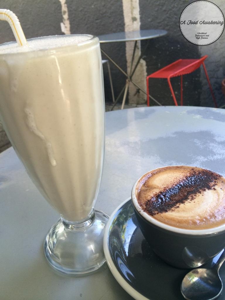Banana Smoothie and Coffee
