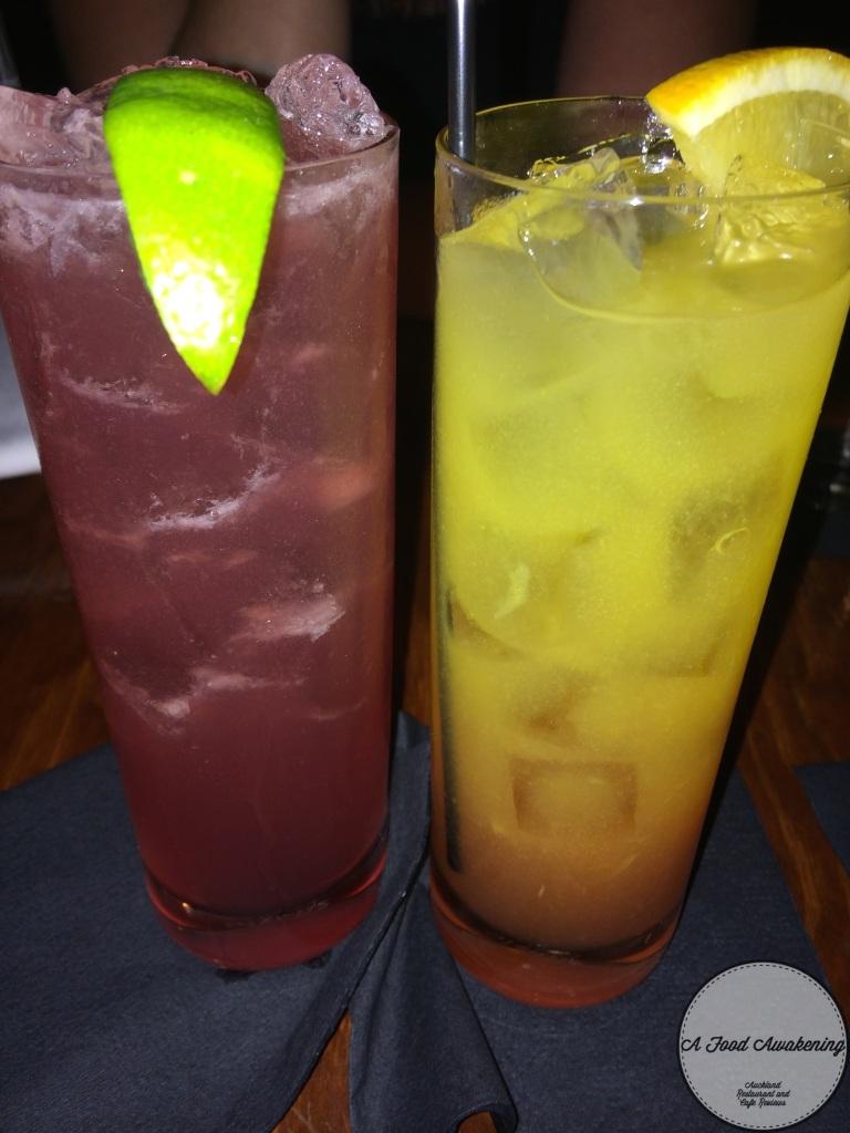 Cocktails -El Diablo & Hurricane
