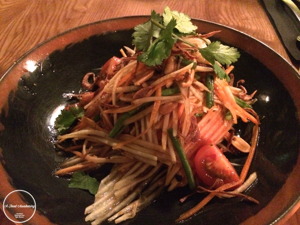 Smashed Green Papaya Salad