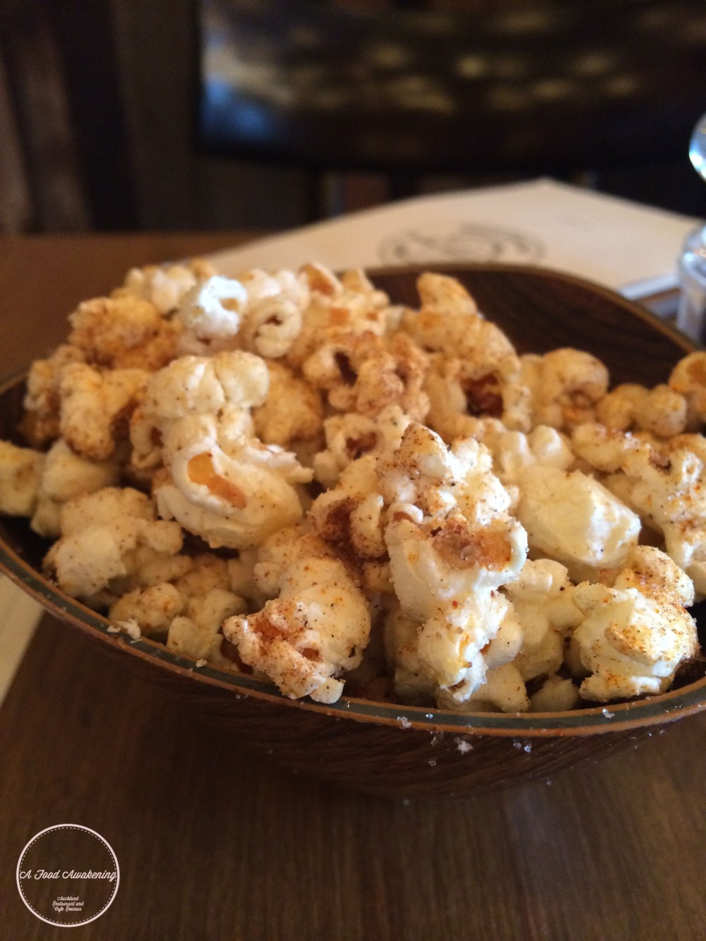 Complimentary Sugar and Spice Popcorn