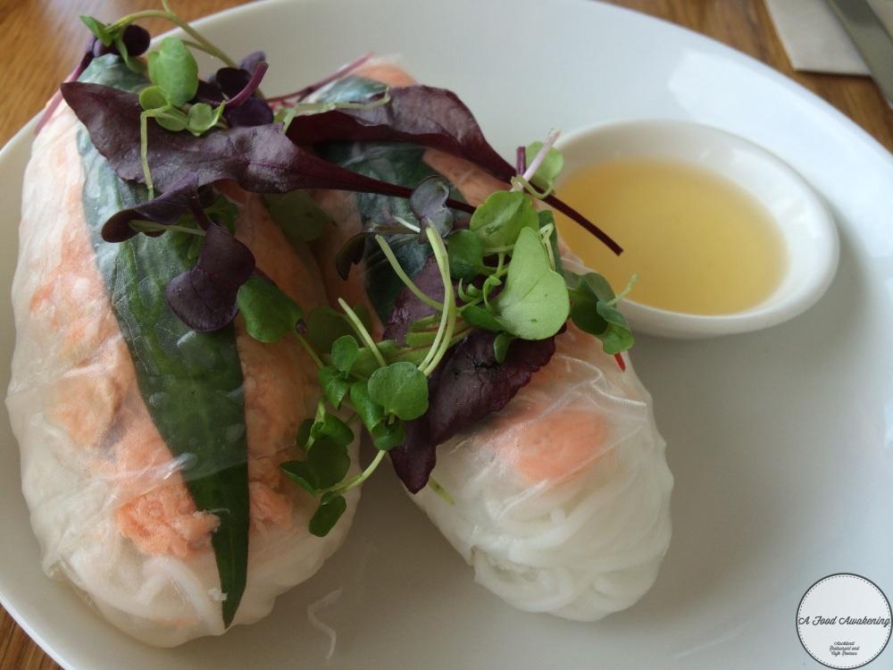 Tea Smoked Salmon Rice Paper Rolls