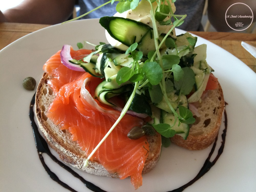 Salmon Gravlax Sourdough Tartine
