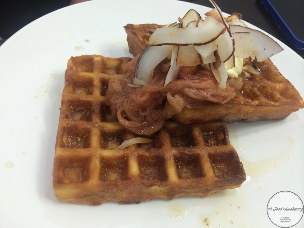 Rhubarb Waffles