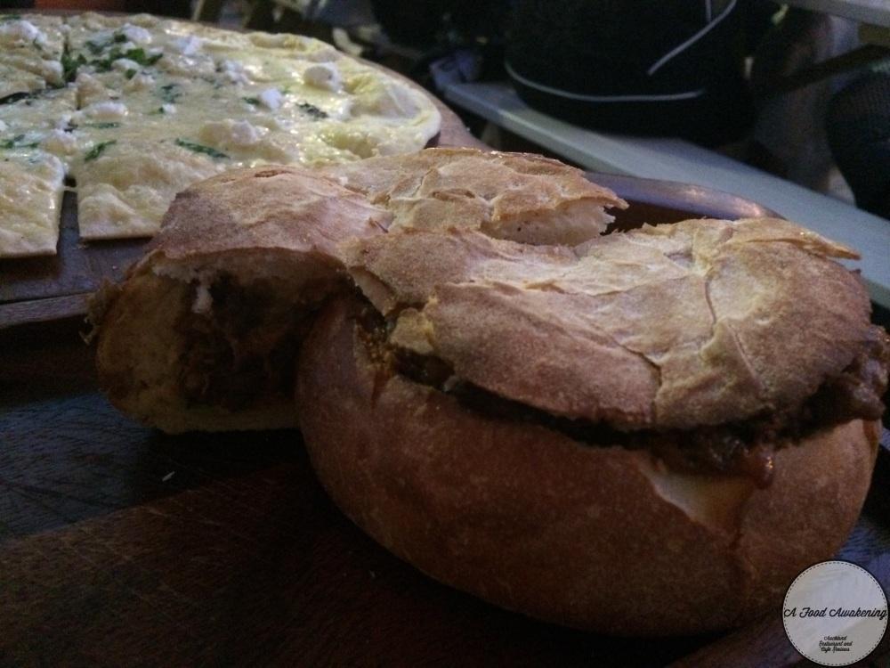 Pulled Lamb Shoulder Muffuletta