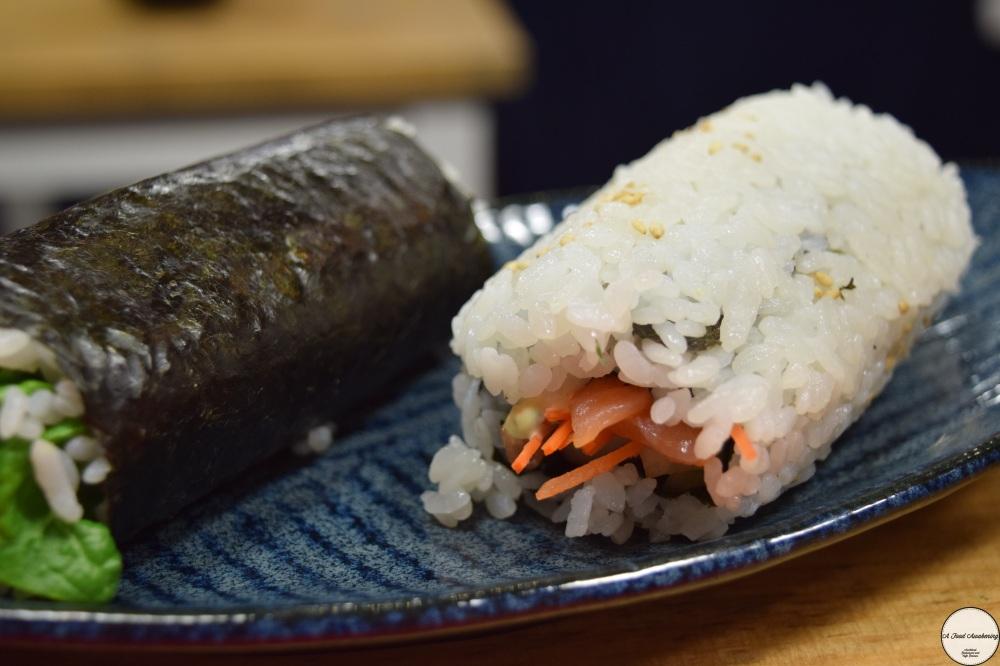 The sushi rolls I made