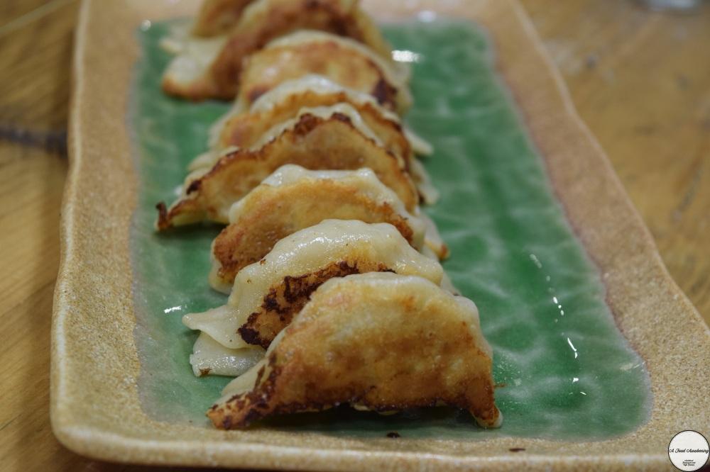 Freshly made Pork Gyoza