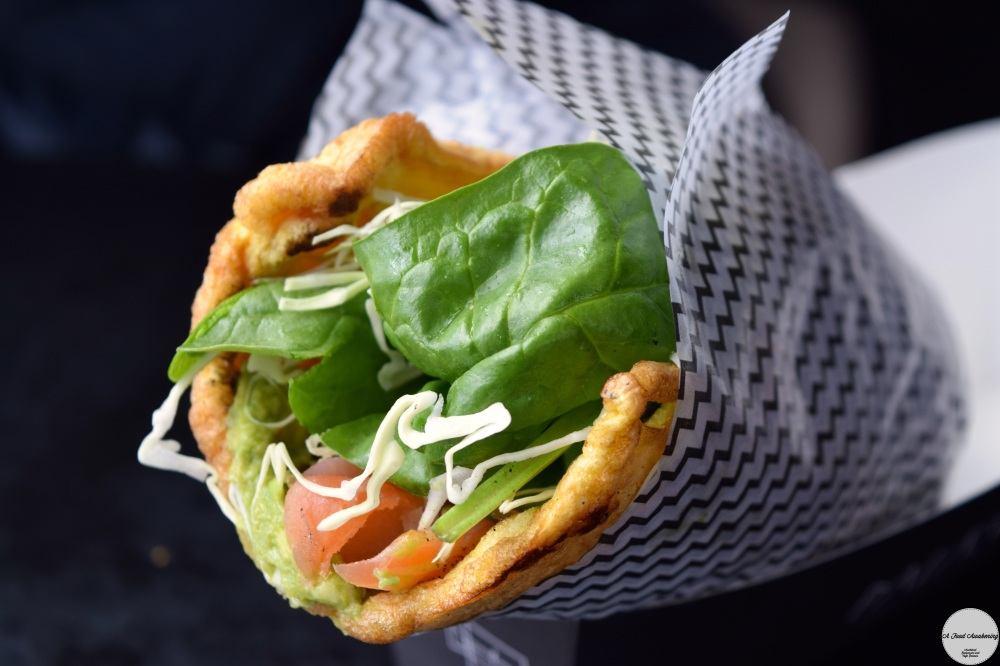 Salmon and Avo Cream Paleo Wrap