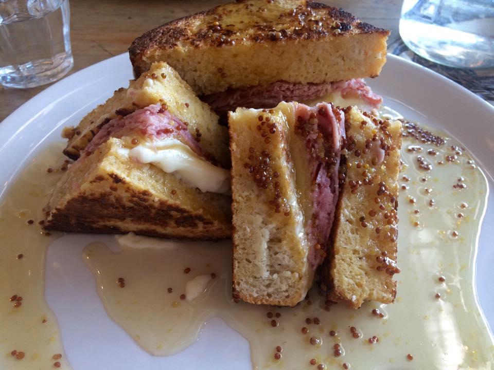 French Toast w/ Ham, Mature Cheddar & Honey Mustard