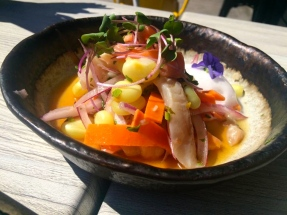 Salmon and Sea Bass Ceviche