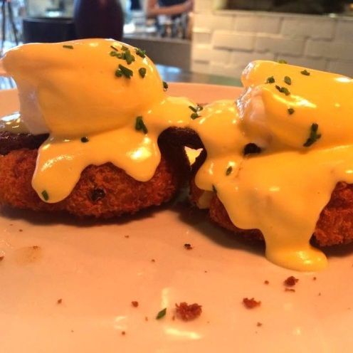 Eggs Benedict with Pork Cheek