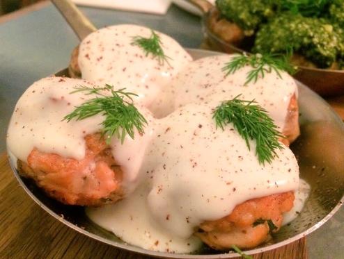Salmon Balls w/ Bechamel Sauce